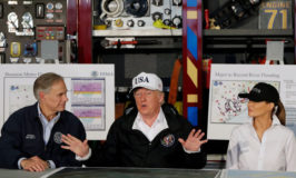 President Trump visits the Texas Coast after Hurricane